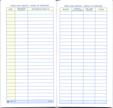 automobile log book